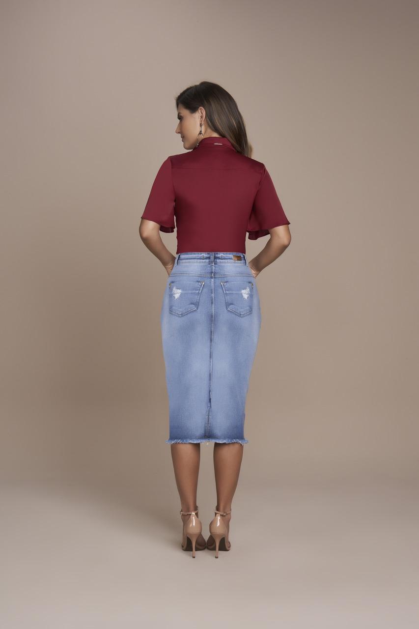 25399- Saia Tradicional Jeans