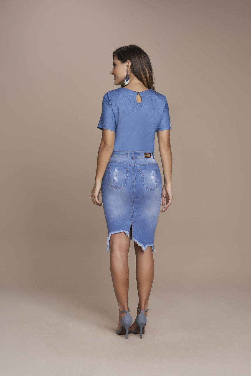 25559- Saia tradicional Jeans