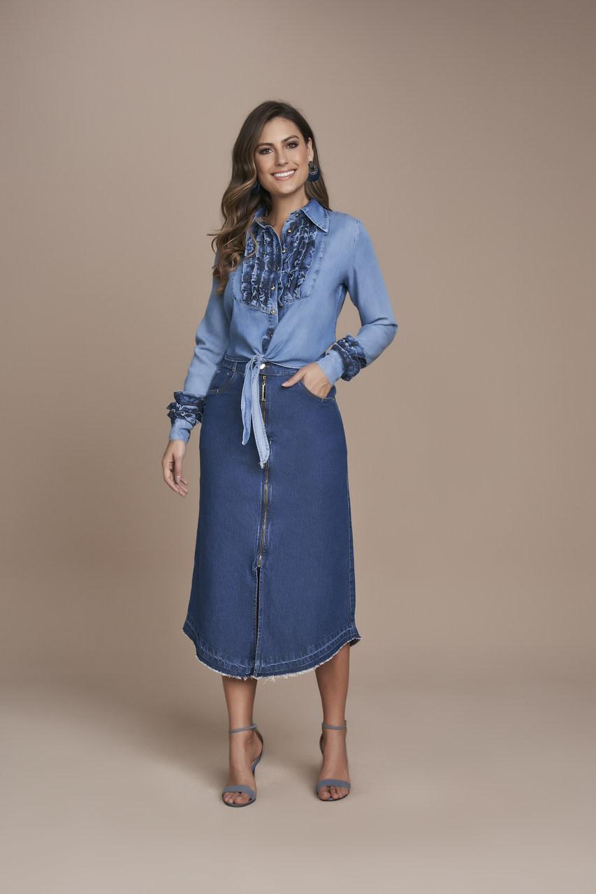 25561- Saia Evase Jeans