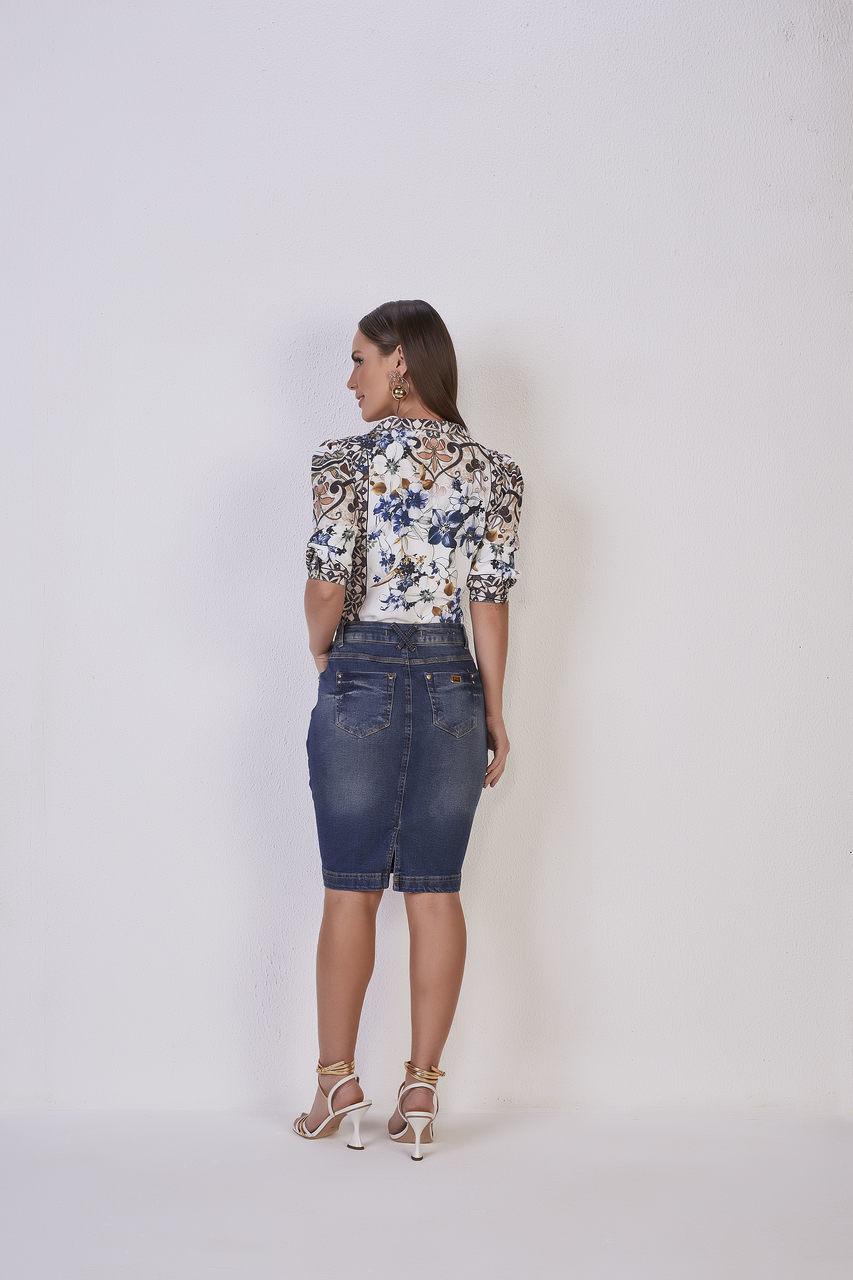 25588  Saia tradicional jeans - Titanium Jeans - 55cm