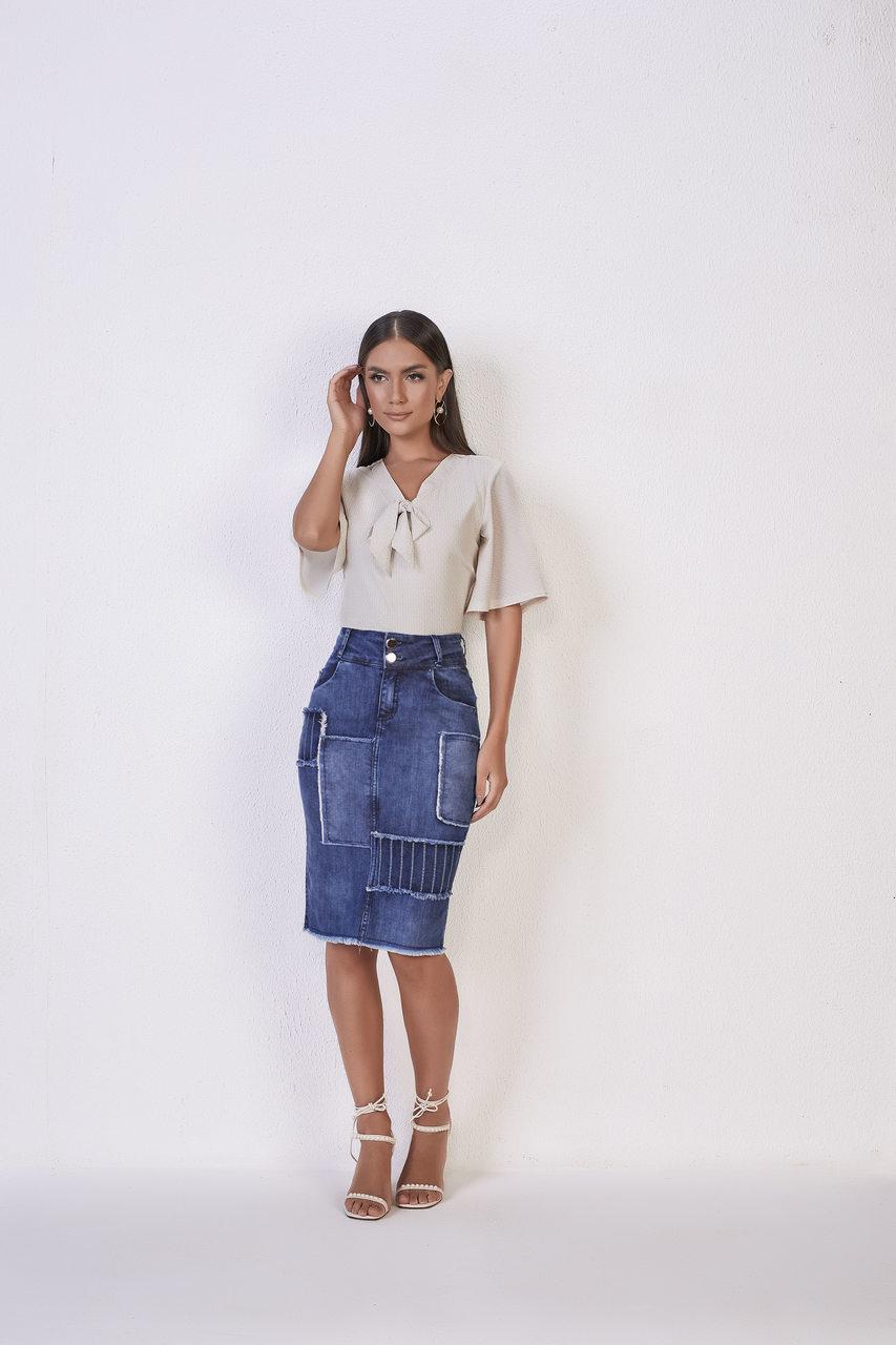 25748- Saia tradicional Jeans - Titanium Jeans - 55cm