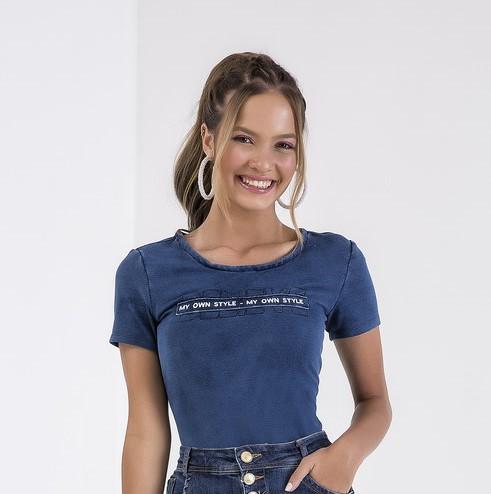 56418 - T-Shirt Malha Denim - Império Z