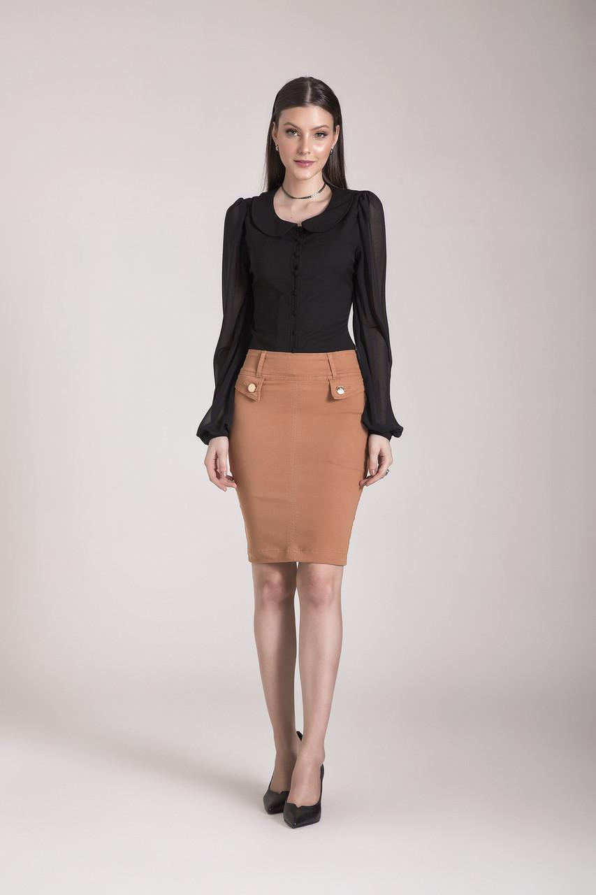 89631- Camisa plano preta - Laura Rosa