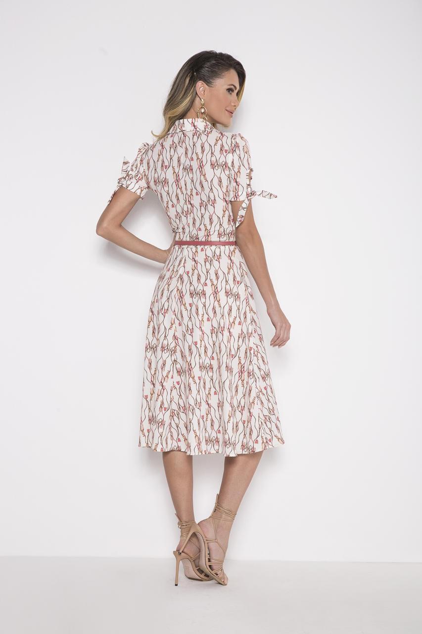 89696 - Vestido crepe estampado - Laura Rosa - 110cm