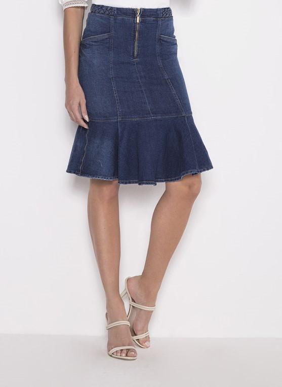 89699 - Saia Sino Jeans - Laura Rosa - 62cm