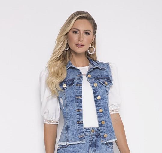 89719 - Colete Jeans - Laura Rosa
