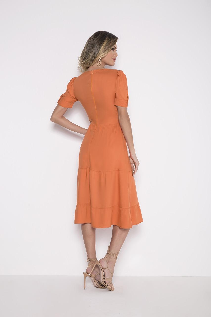 89731 - Vestido crepe laranja - Laura Rosa - 110cm