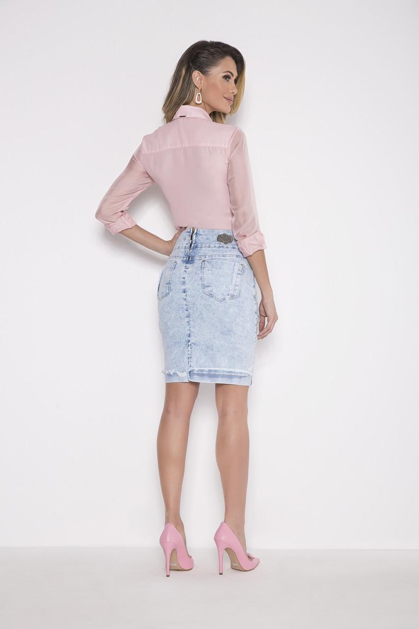 89745 - Camisa Plano Rosa - Laura Rosa