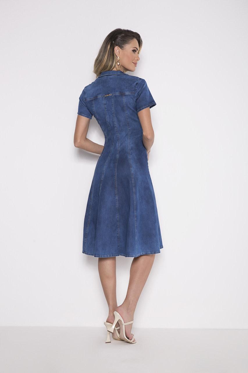 89746- Vestido Jeans - Laura Rosa - 100cm