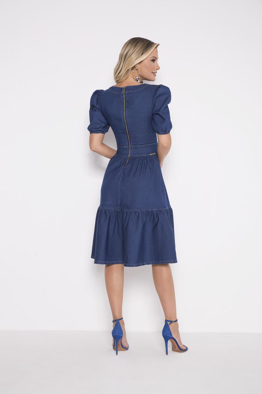 89772 - Vestido Jeans - Laura Rosa - 110cm