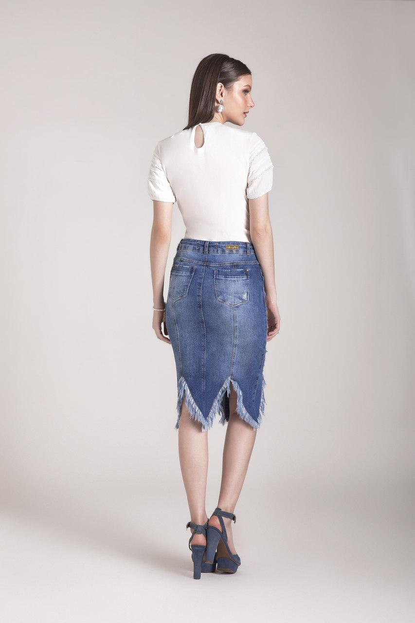 89689- Saia tradicional jeans - Laura Rosa