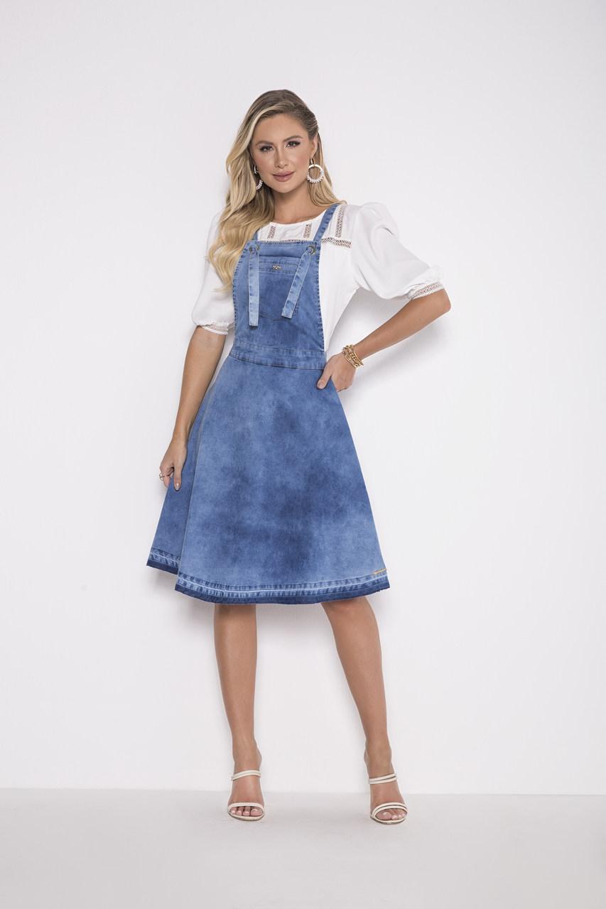 89716 - Salopete Jeans - Laura Rosa 62cm