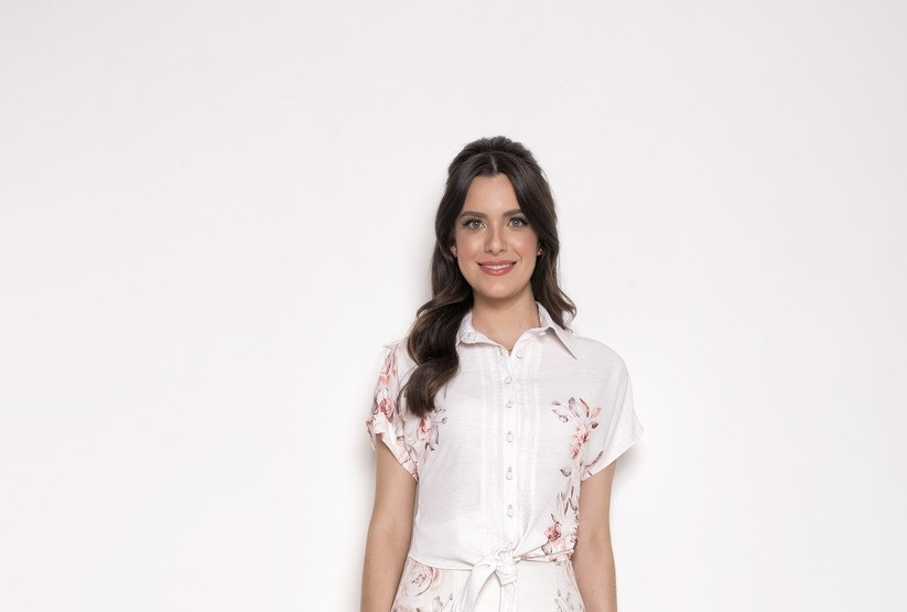 Blusa crepe estampada - Laura Rosa 89587