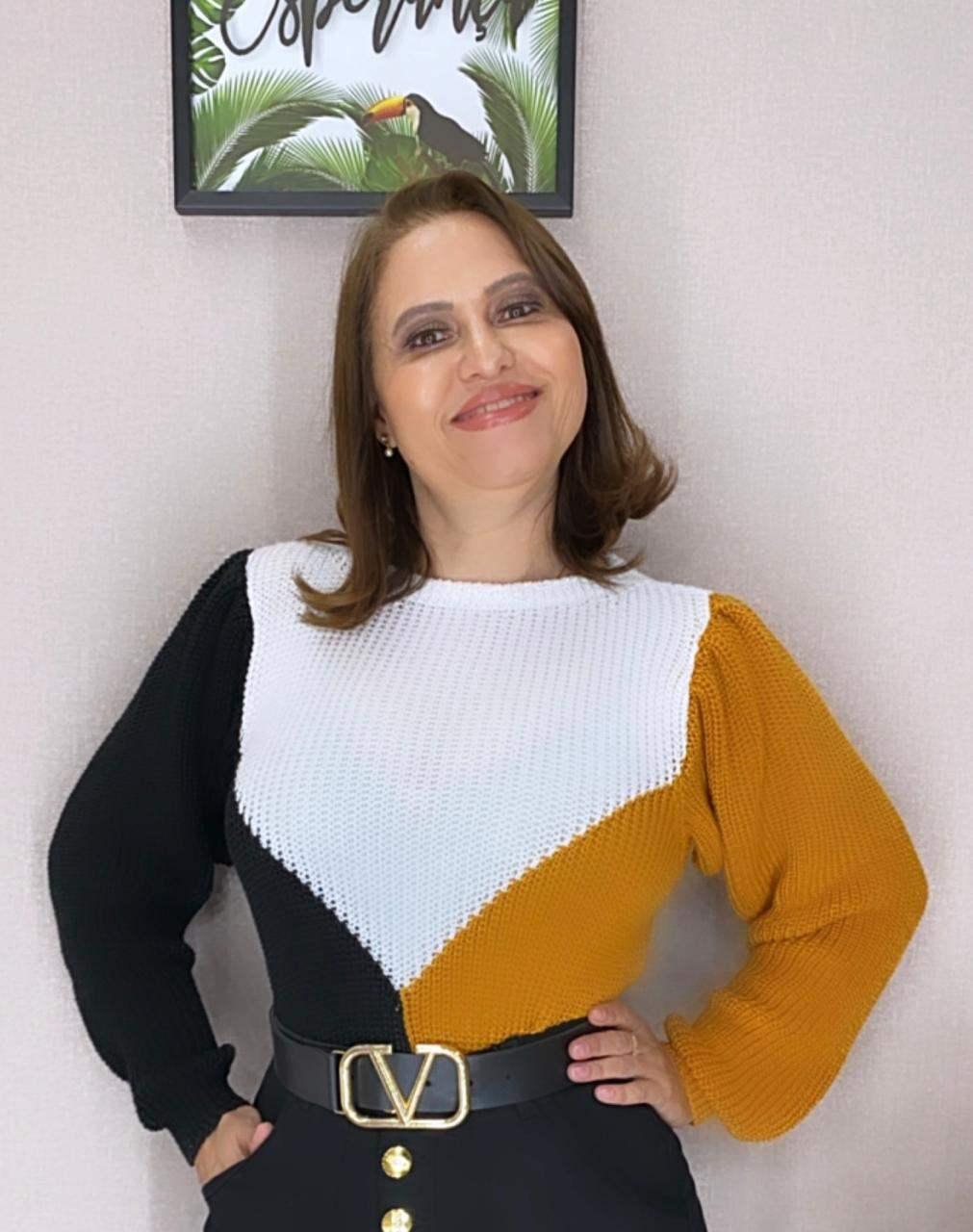 BLUSA EM TRICO MANGA LONGA PRINCESA - BELLY MODA