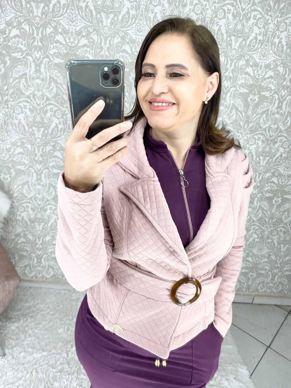 CASAQUETO EM MATELESSÊ MANGA PRINCESA  - FEMININE FASHION