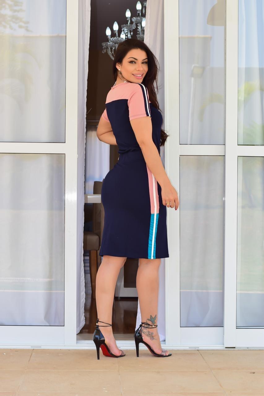 CONJUNTO EM MALHA PREMIUM COM FAIXA LATERAL - BELLY MODA