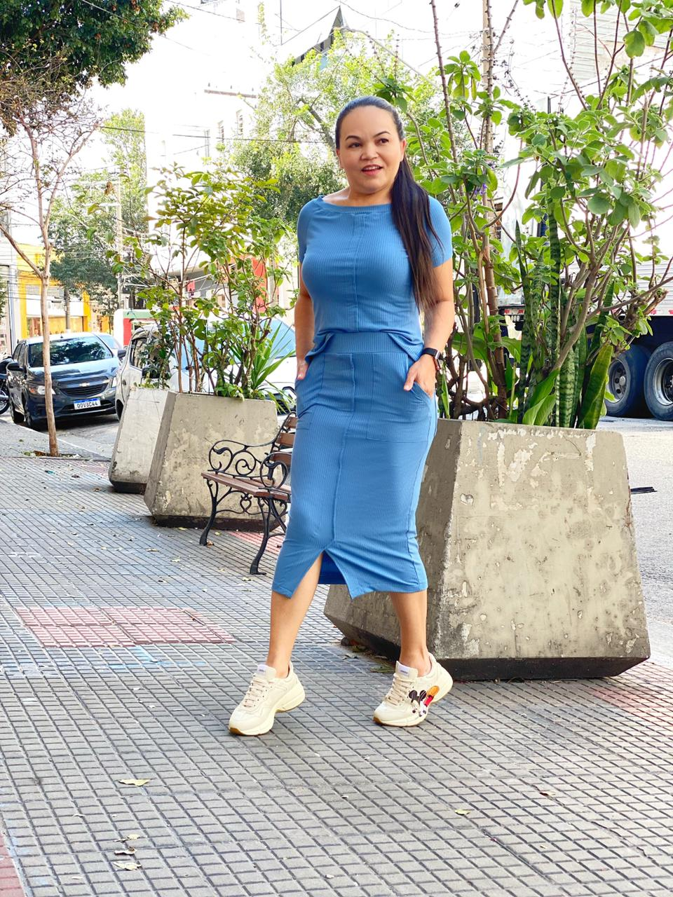 CONJUNTO PÂMELA MALHA CANELADA MIDI - HELPCHIK