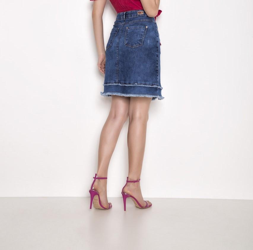 Saia Evase Jeans - Laura Rosa 89504