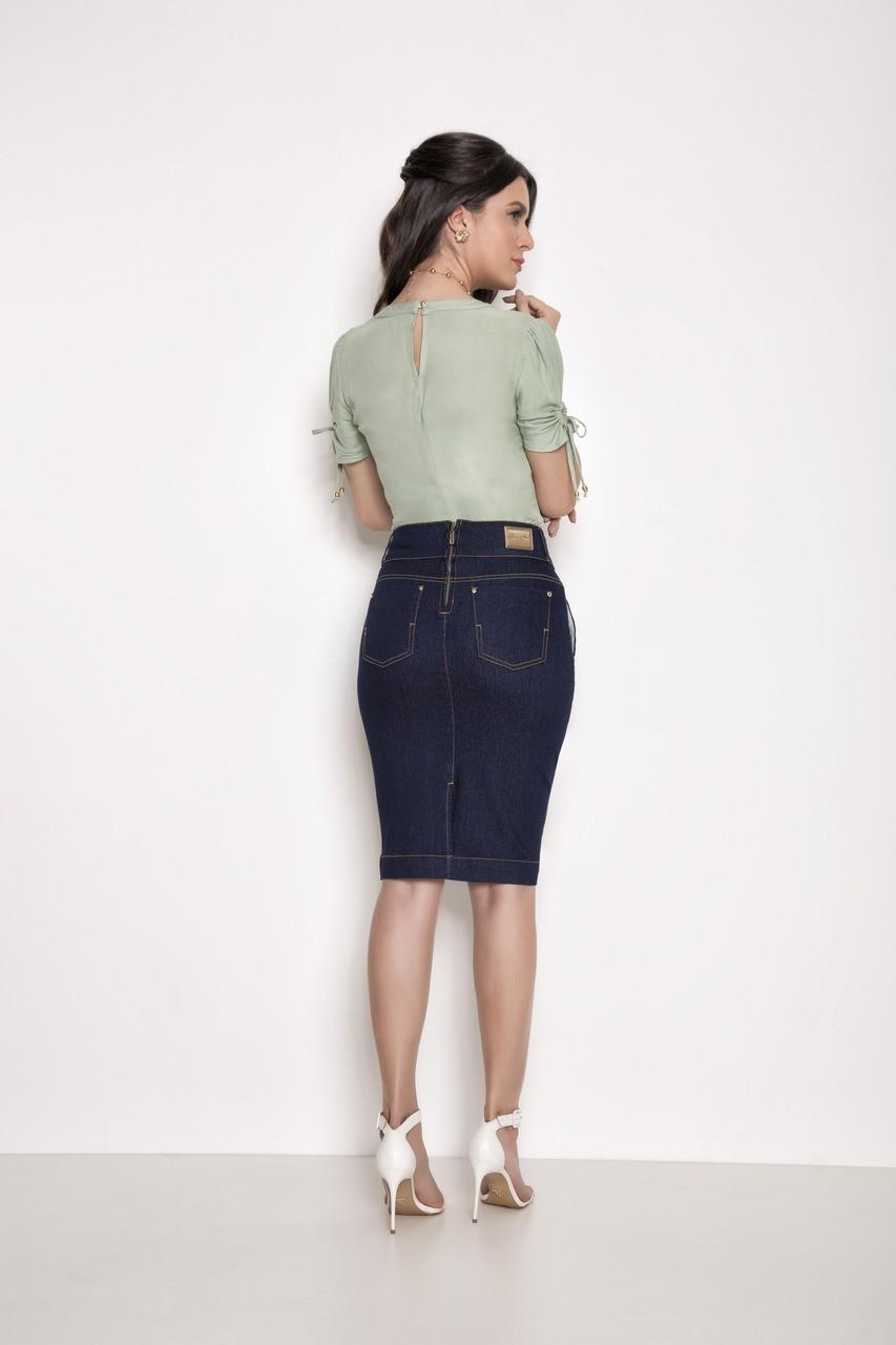 Saia lápis jeans - Laura Rosa