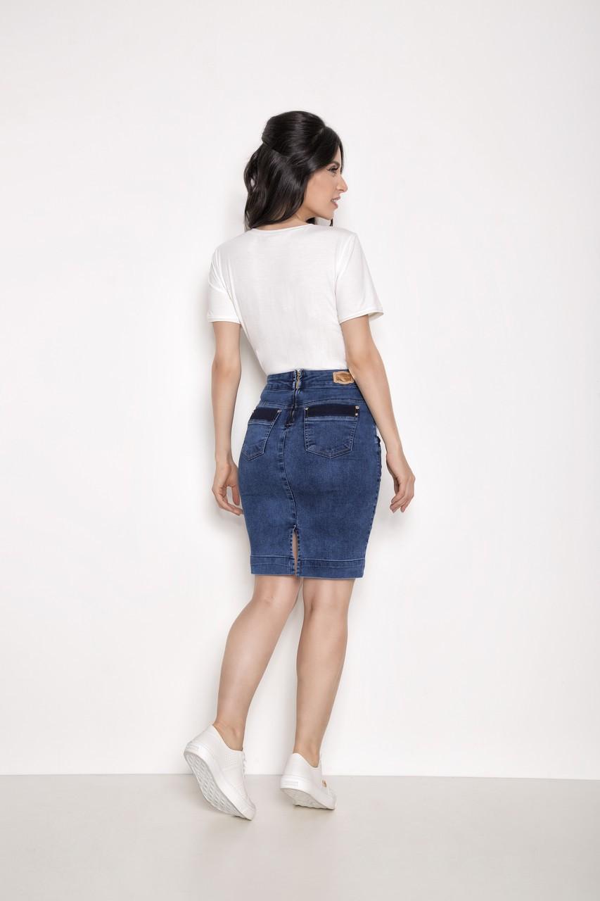 Saia Reta Jeans - Laura Rosa 89685