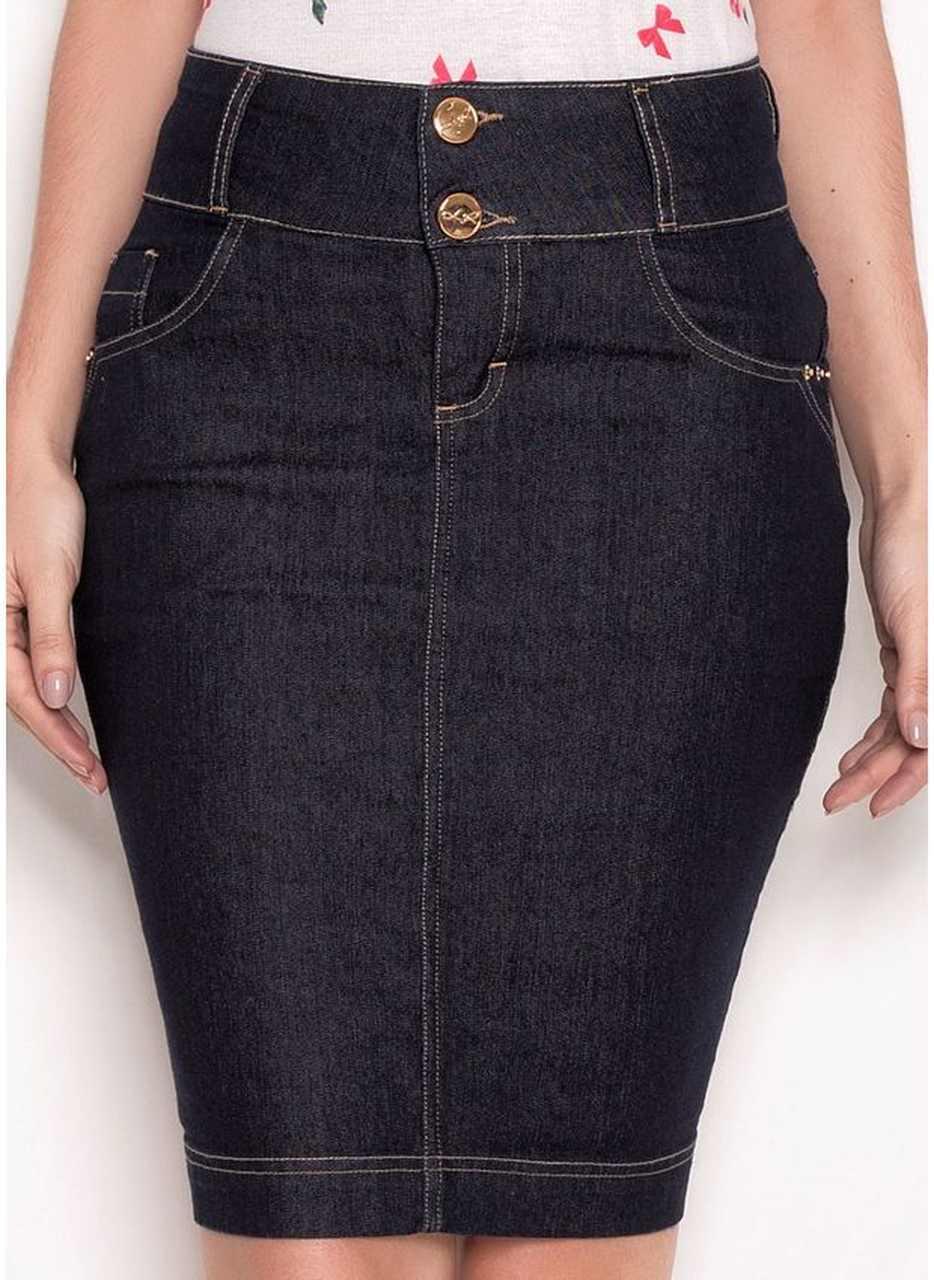 Saia tradicional jeans - Laura Rosa 55cm - 89537