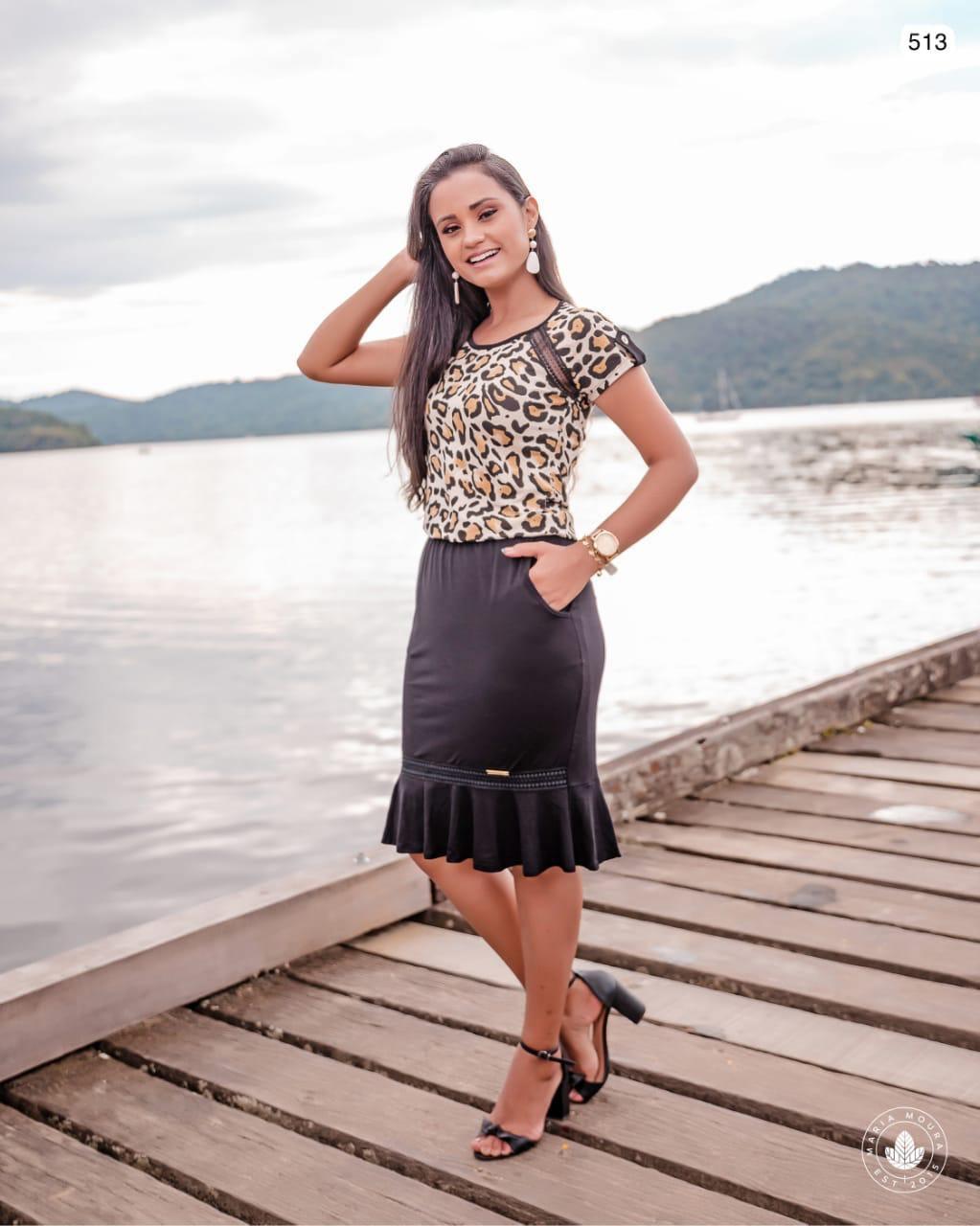VESTIDO BLUSÊ ANIMAL PRINT SINO - MARIA MOURA