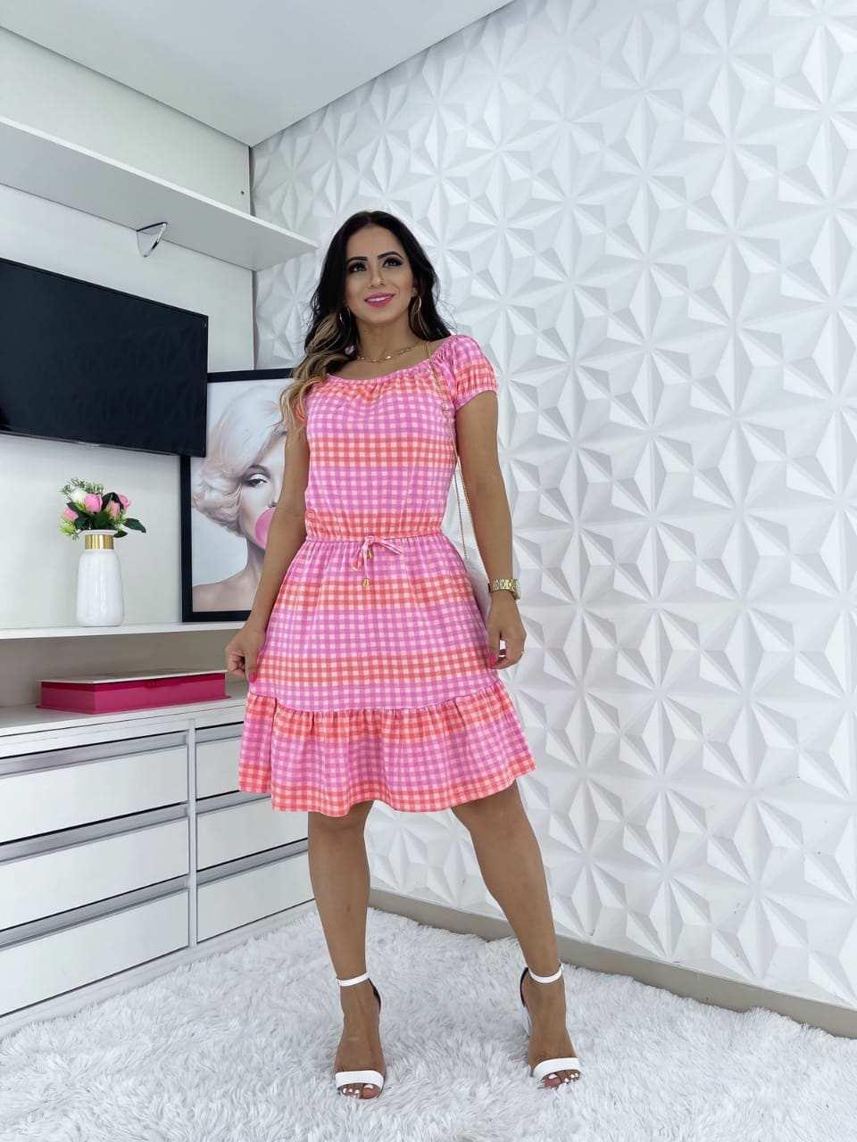 VESTIDO BLUSÊ CIGANINHA ESTAMPADO  - BELLY MODA