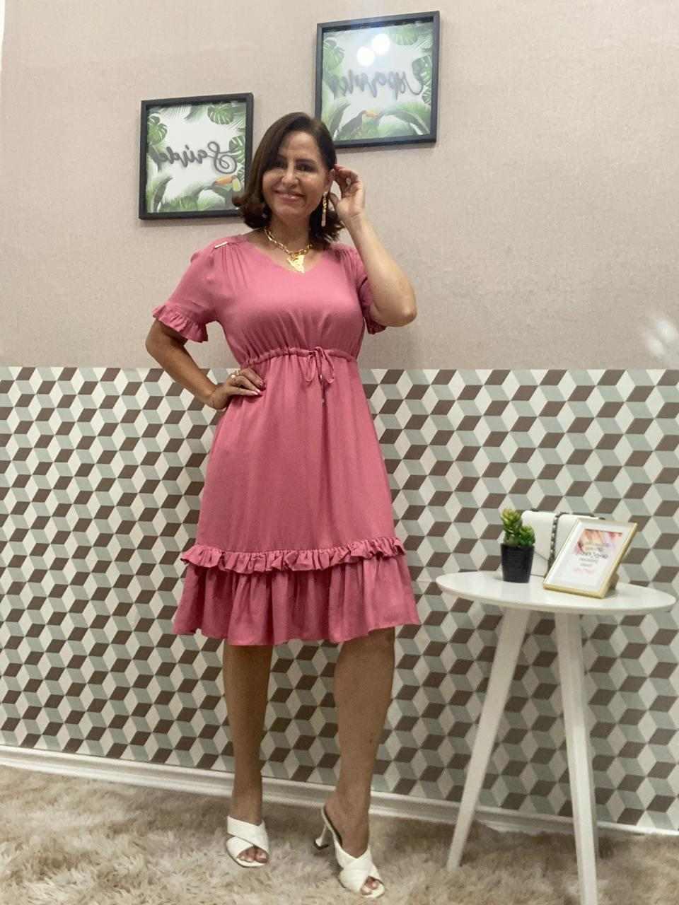 VESTIDO FLAVIA LISO COM BOLSO - HELP CHIK