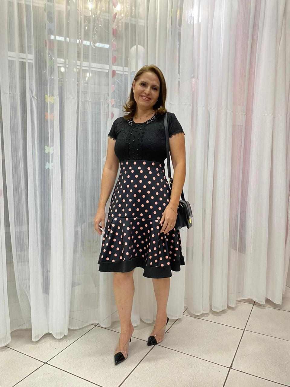 VESTIDO LADY LIKE COM BABADO - ROSA PINK