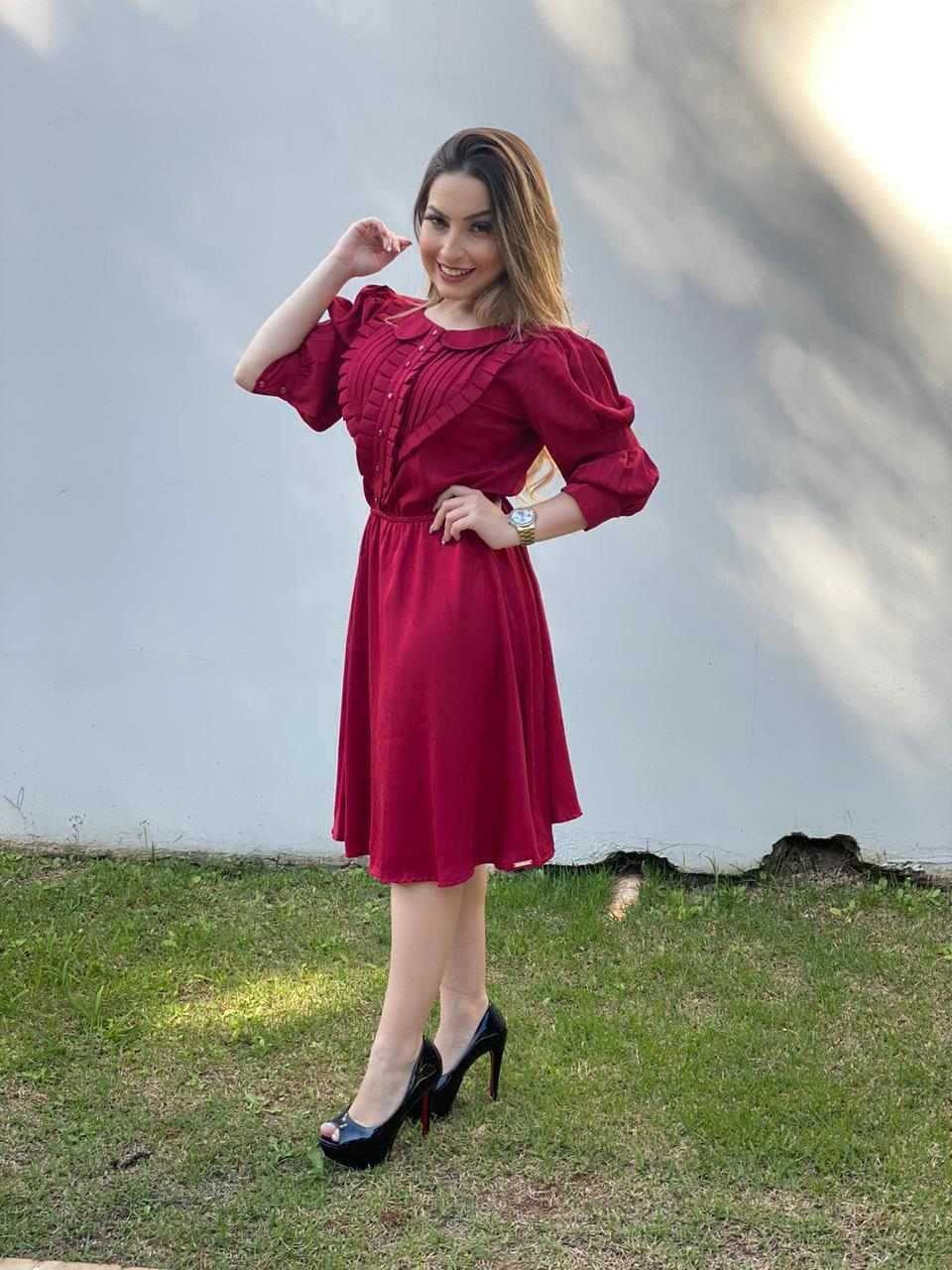 VESTIDO LADY LIKE MANGA LONGA - DAZUL MODA FEMININA EVANGÉLICA