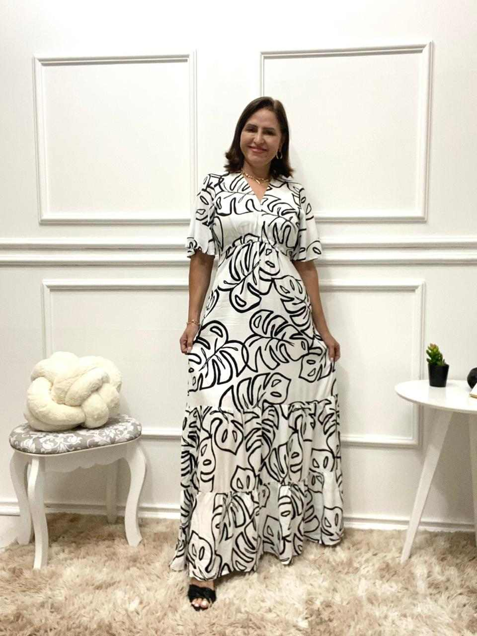 VESTIDO LONGO LORENA DUAS MARIAS   - HELPCHIK