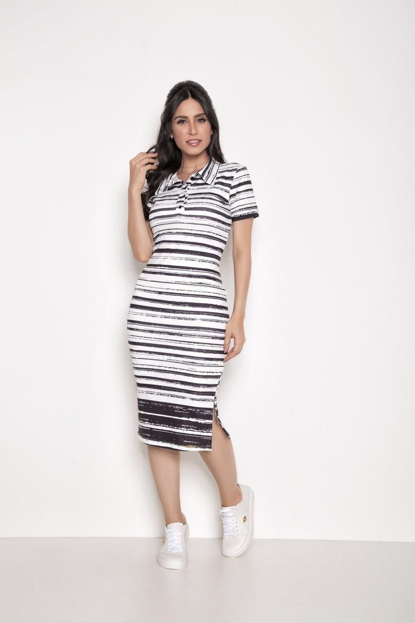 Vestido Malha Estampado - Laura Rosa 89560