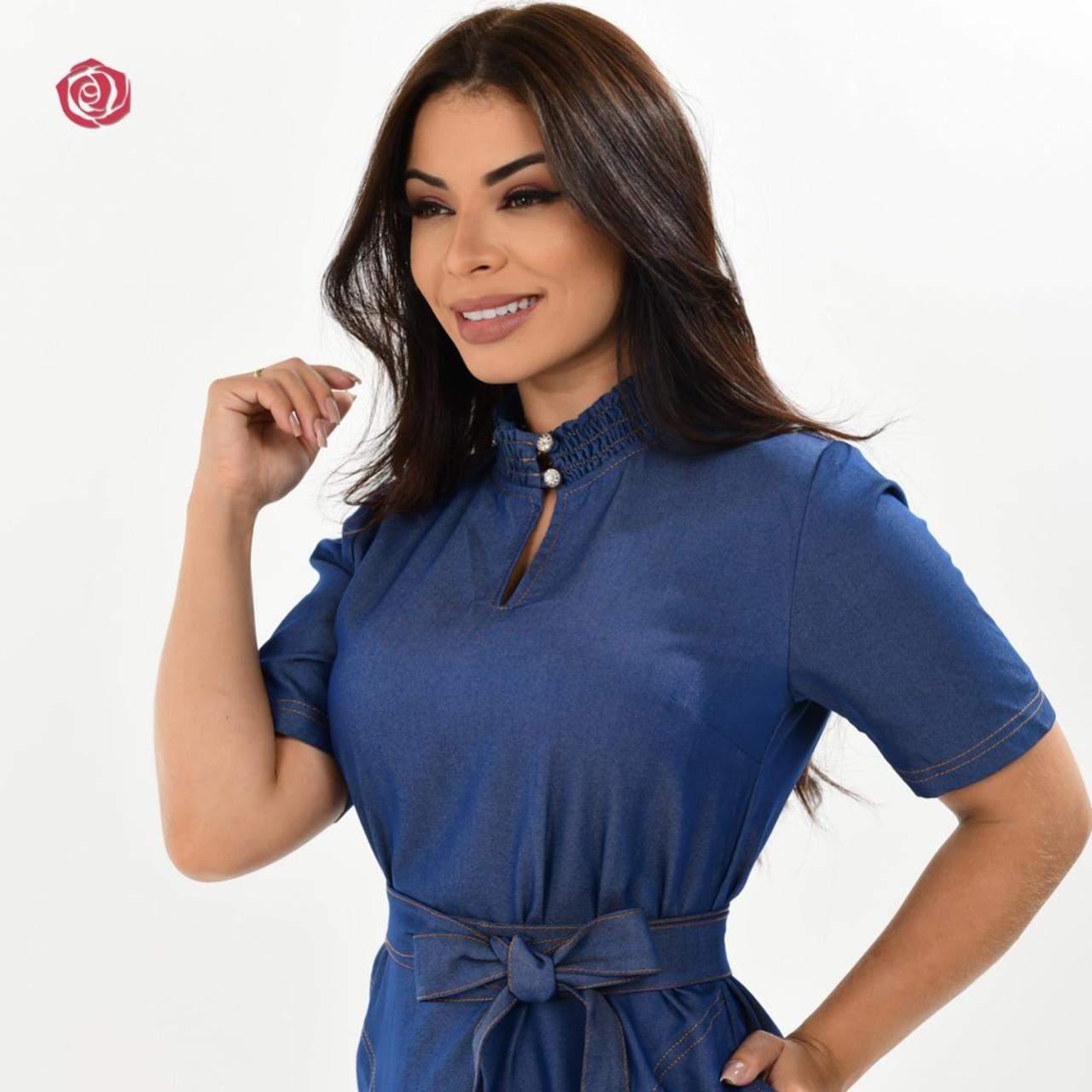 VESTIDO MARIANA GOLA ALTA - BELLY MODA