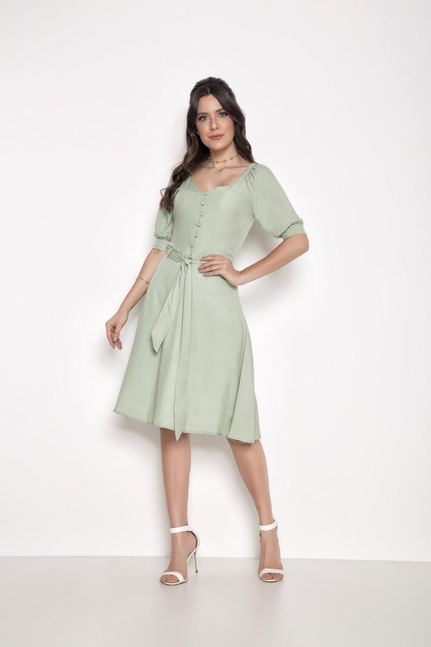 Vestido Viscose Verde - Laura Rosa 89586
