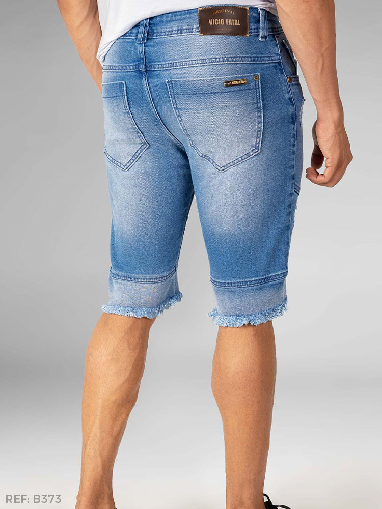 Bermuda masculina slim fashion