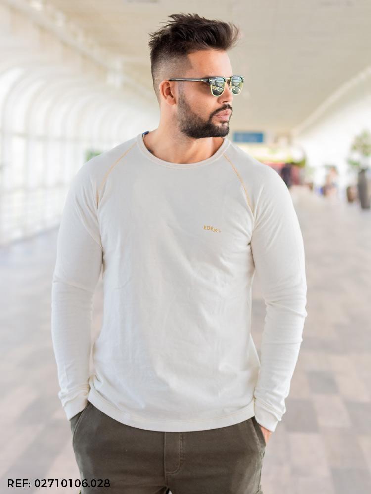 Blusa masculina manga longa soft touch