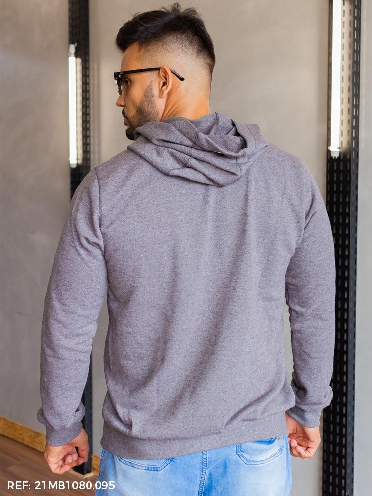 Blusão masculino moletinho canguru capuz