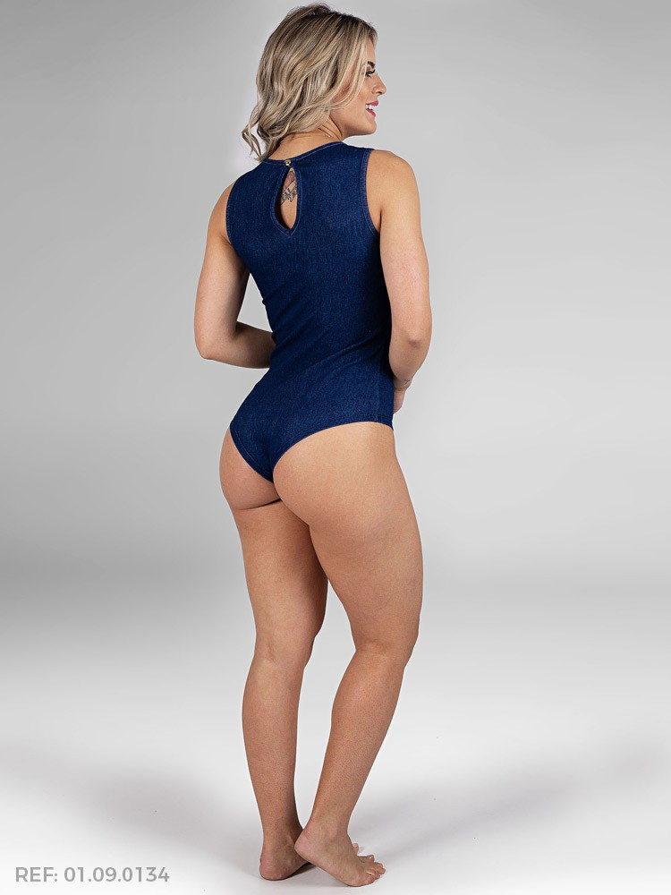 Body feminino bi-elastic