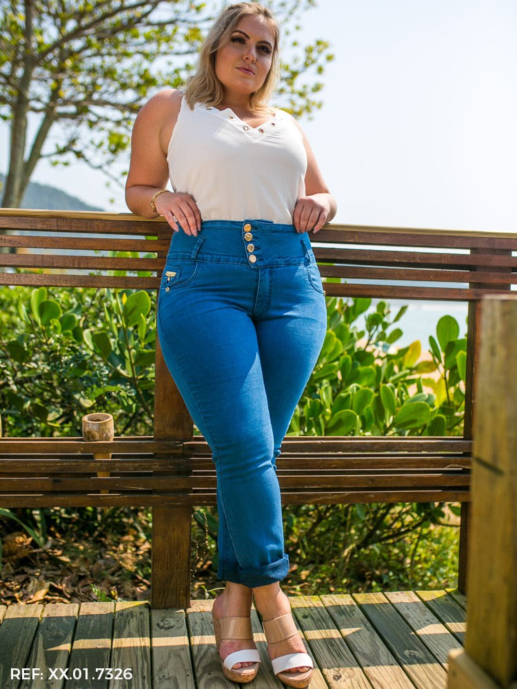 Calça feminina alice cós largo