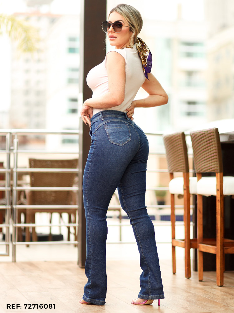Calça feminina boot cut safira
