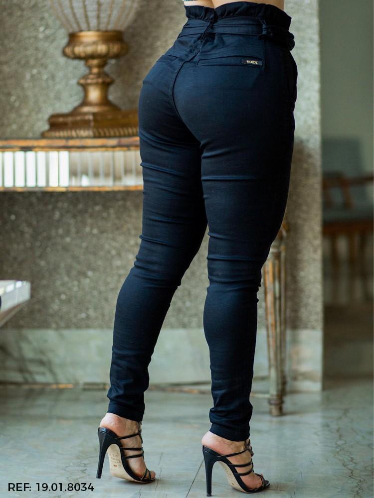 Calça feminina clochard cinto
