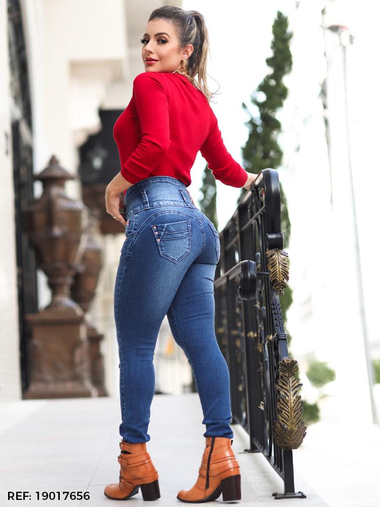 Calça feminina cós largo