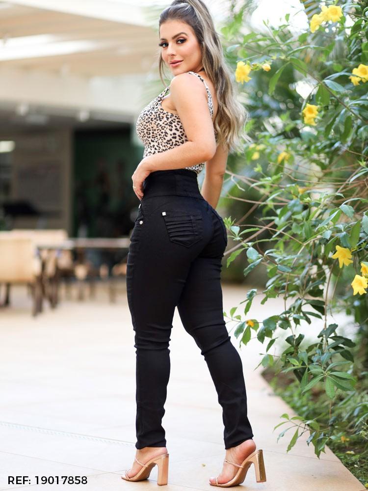 Calça feminina elástico