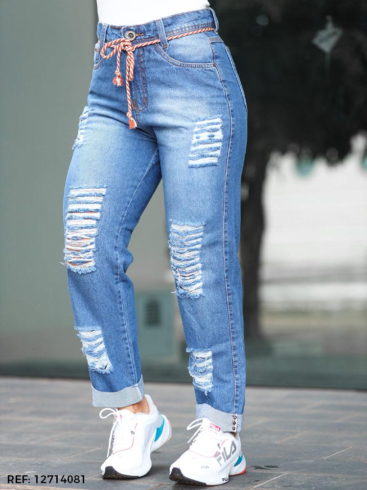 Calça feminina slouchy cinto