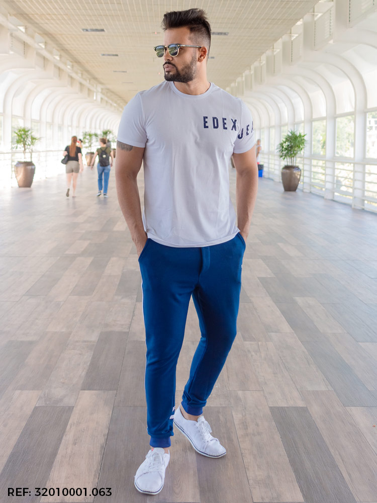 Calça masculina jogging moletom