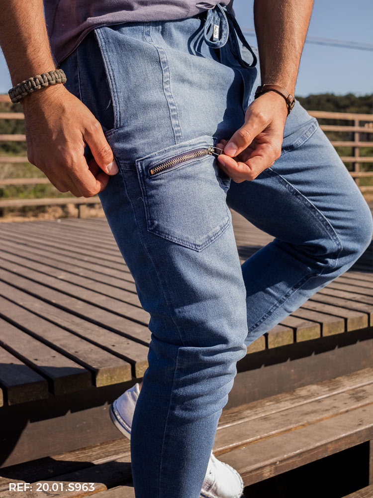 Calça masculina jogging  P & F