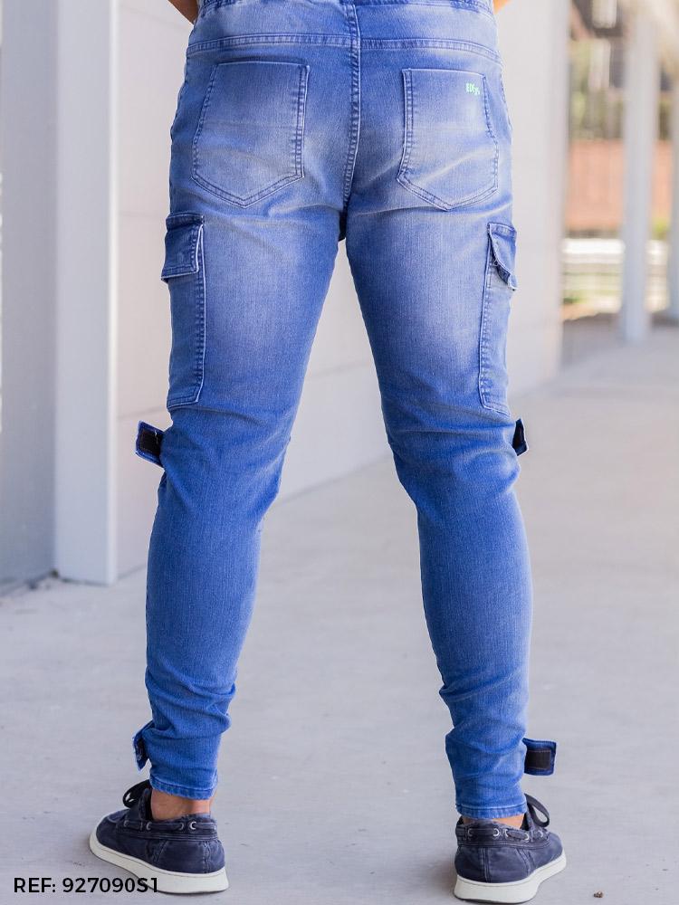 Calça masculina jogging slim