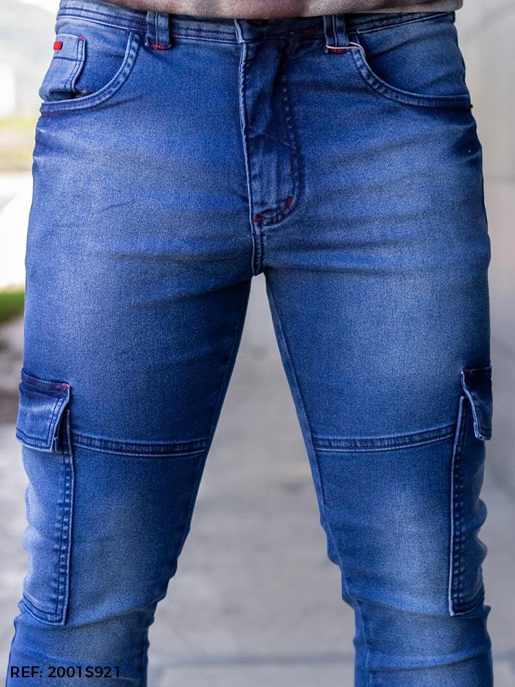 Calça masculina junior utilitária