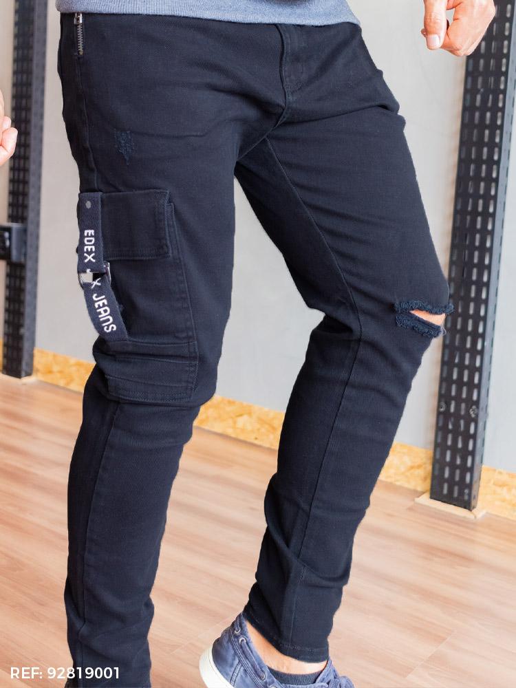 Calça masculina júnior utilitária