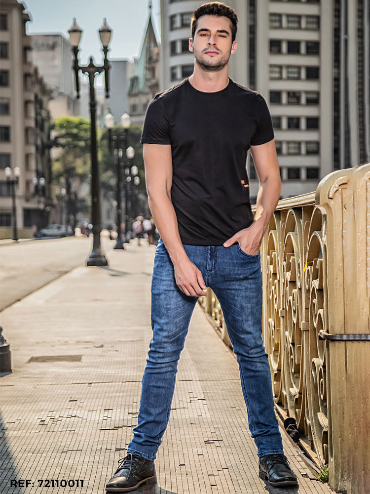 Calça masculina slim